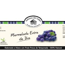 etiqueta mermelada de uva